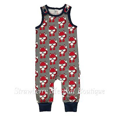 New AW17 Maxomorra Fox Playsuit Dungarees 56 62 68 80 110 116 Age 0 3 6 9 5-6