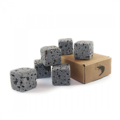 6 Eco Bricks - Water Purifying Aquarium Decor Stones - 100% Natural Lava Rock
