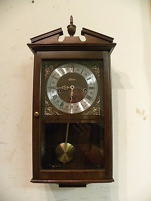 """Vintage German """"linden"""" Westminster Chime Fine Wall Clock. Clean And Running"""