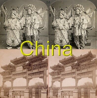 18 new STEREOFOTOS ÜBER CHINA PEKING UM 1900 Serie 4