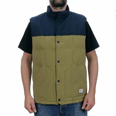 Element Skate Easton Body Warmer Jacket Canyon Khaki Gilet New Free Delivery