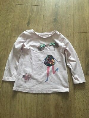 Next Baby Girl Pink Girl Print Top Size 12-18 Months