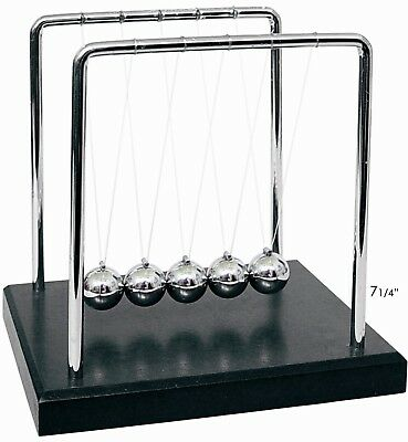 Large Newtons Law of Motion Cradle Office Desk Kenetic Educational Gravity Balls