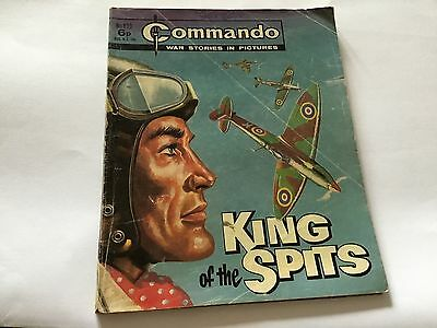 1975 Commando War Stories Comic No 899 King Of The Spits
