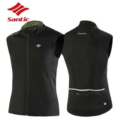 Santic Mens Cycling Gilet Waterproof Windproof Cycling Gilet Bike Bicycle Vest
