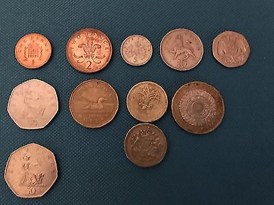 Total of 11 Pence And Pound Coins