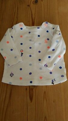 Joules baby girl top 0-3m