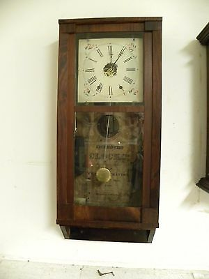 Antique Early American Charles Stratton 8Day Weight Driven Fine Wall Clock Runs