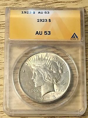 ~~~~~ Slabbed MS 69- 1923-D Peace Dollar with an AU53 grade- Amazing deal!~~~~~