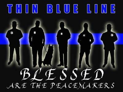 Police Poster Police Motivation Poster Thin Blue Line 18x24 (MOTIVATION29)