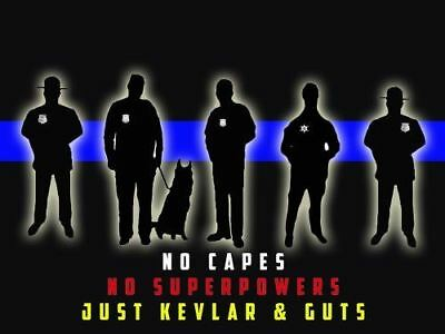 Police Poster Police Motivation Poster Police Gifts Thin Blue Line 18x24 (MOTIVA