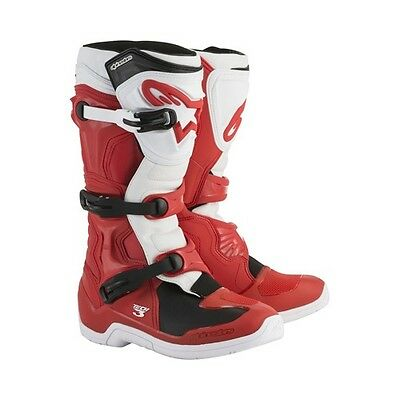 Alpinestars Red White Tech 3 Men's Size 6 Off Road MX Boots 2013018-32-6