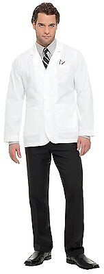 "Landau Men's Three Button Closure Consultation 30&Frac34;""; Lab Coat White Twill"