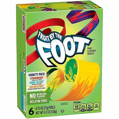 New Sealed Fruit By The Foot Rolls 4.5 Oz Fruit Flavored Snacks