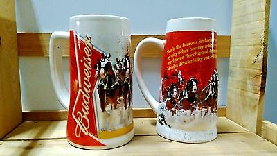 2012 & 2013 BUDWEISER HOLIDAY STEINS free shipping LOT OF 2 MUGS