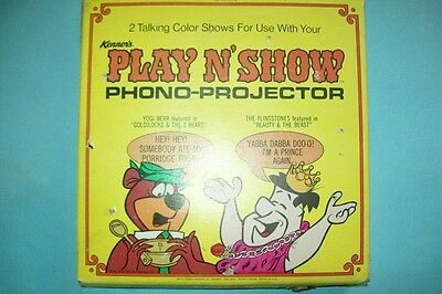 Vintage 1970 The Flintstones & Yogi Bear Talking Shows for Kenner's Play N' Show