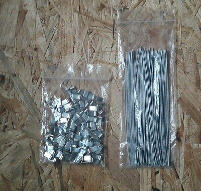 100 Electric/Gas Meter Tags Security Tag Ferrules Seals