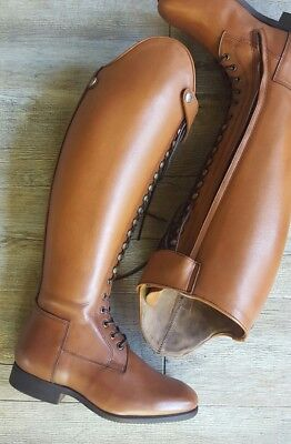 BRAND NEW Brown/Tan leather top boots RRP $800 (showing, dressage)