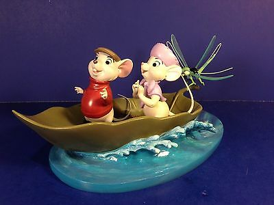 WDCC Disney Set of 3 THE RESCUERS BOLD BERNARD BRAVE BIANCA & LEAF BASE w/ boxes