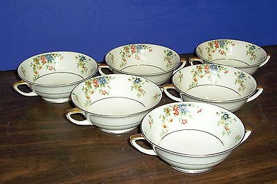 Lot 5 Heinrich Selb Bavaria Germany Meadow Cream Soup Cups Never Used