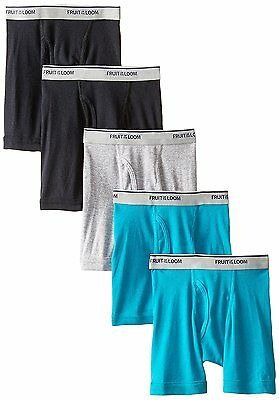 Fruit of the Loom Little Boys' Boxer Brief, Assorted, 4T Pack of 5