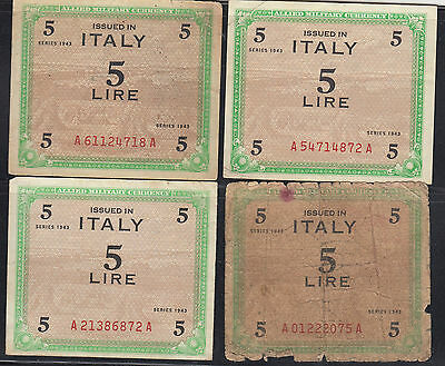 Italy WWII Allied Military Currency