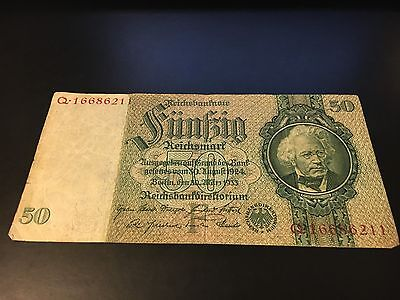 Germany 50 Reichsmark 1933  Mark Note
