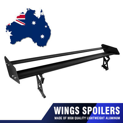 135cm Double Deck Rear Wing GT Tail Spoiler Adjustable Light Weight Aluminum 53""