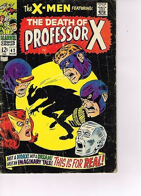 X-men #42  - Marvel Silver Age 1968  - The Death of Professor X