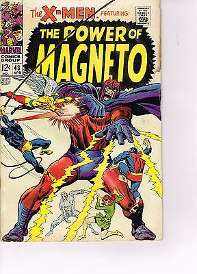 X-men #43  - Marvel Silver Age 1968  - The Power of Magneto