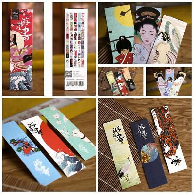30 PCs/lot Stationery Bookmark Japanese Style Book Holder Message Card