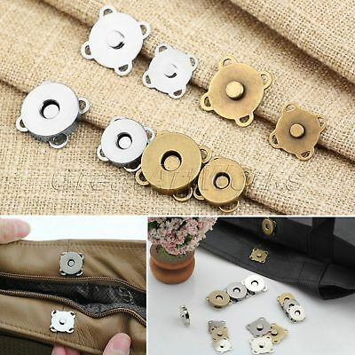 10sets Metal Magnetic Buckle Clothes DIY Sewing Handmade Bag Purse Buttons Snap