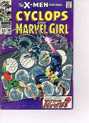 X-men #48 - Marvel Silver Age 1968  - Cyclops and Marvel Girl