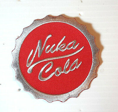 "Fallout Nuka Cola Logo Red Round 3"" Embroidered Patch- FREE S&H (FOPA-14)"