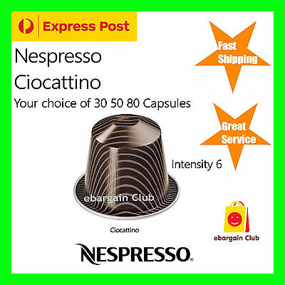 30 50 80 Capsules Nespresso Coffee Ciocattino Chocolate Pods eBClub