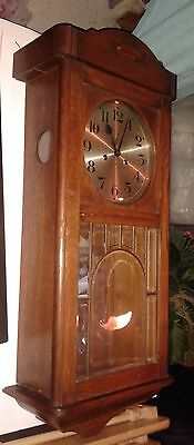 RARE ANTIQUE GUSTAV BECKER WALL CLOCK WITH GLORIA CHIMES circa late 1800's