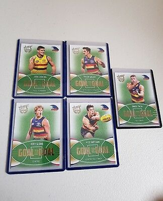 2017 Select Certified - Goal To Goal- Adelaide - Set Of 5