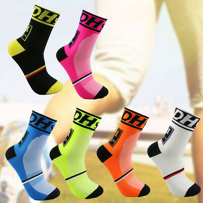 2pcs Men Women Riding Cycling Sports Socks Breathable Bicycle Footwear Socks