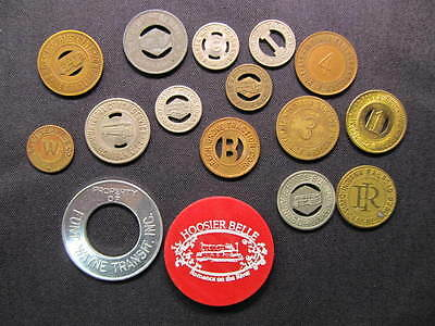 Indiana Transportation Tokens Collection - (16) IN Transportation Tokens Coins