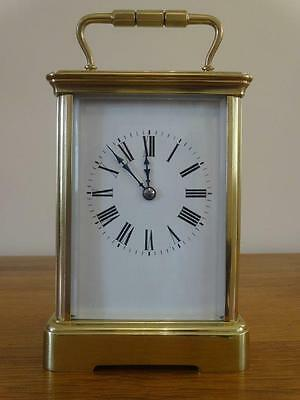Substantial antique striking French carriage clock - c. 1890/5 - restored 06/17