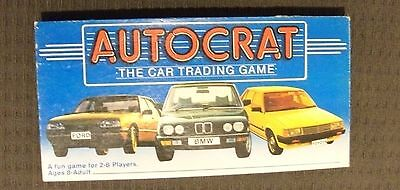 Vintage Autocrat the car trading game complete Verteus creations 1984 FORD BMW