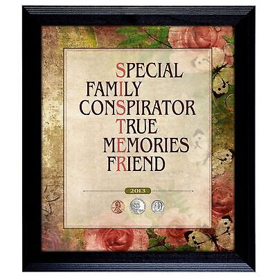 NEW American Coin Treasures Sister Year to Remember Coin Frame 1987
