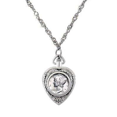 NEW American Coin Treasures Year to Remember Heart Watch Dime Coin Pendant 1935
