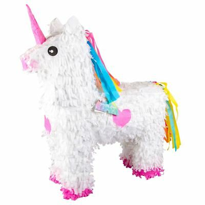 White Unicorn Pinata Childrens Birthday Party Decoration Game Temerity Jones