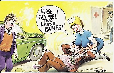 Vintage 1970's Bamforth COMIC Postcard (as new condition) Two Large lumps #265