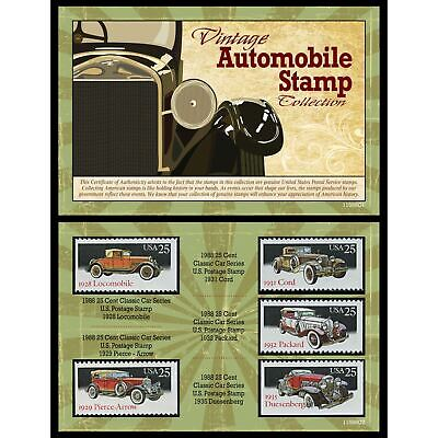 NEW American Coin Treasures Vintage Automobile Stamp Collection 11598