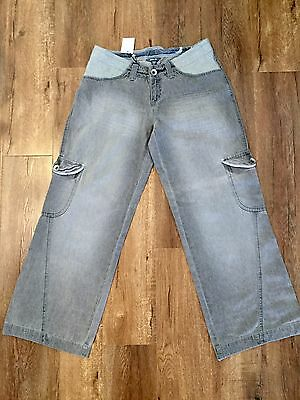 Pumpkin Patch Sz Med/sz 12 Maternity Grey Denim Jeans Style Skate Pants