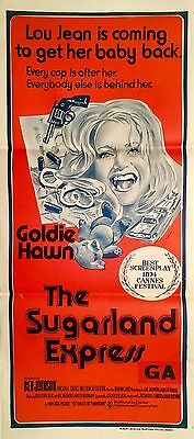 The Sugarland Express 1974 Australian Daybill Movie Poster