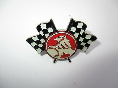 Holden Racing Flags - Top Quality Lapel Pin Badge - biker car men's shed sports