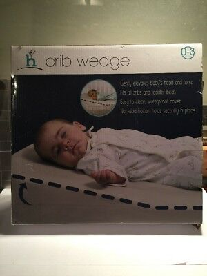 NEW hiccapop Crib Wedge pillow baby toddler bed